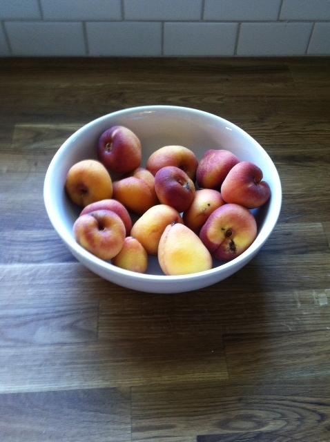 Unpeeled Peaches