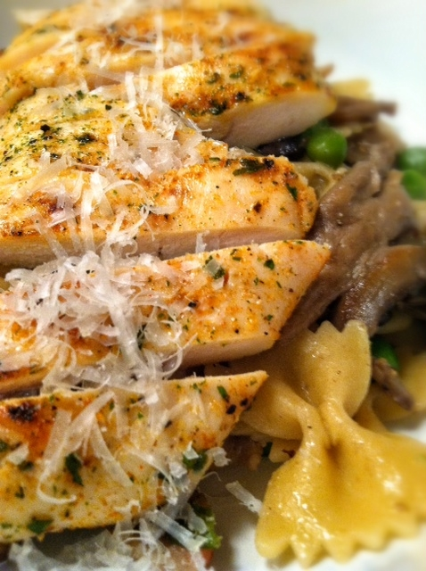 pasta with chick and parm