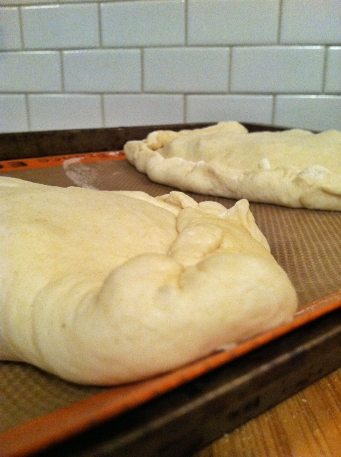 calzone rolled up