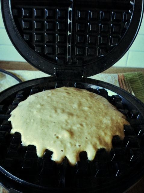 waffle in iron