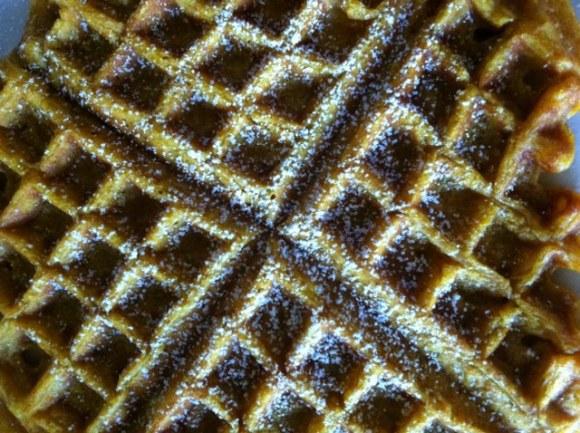 waffle with sugar